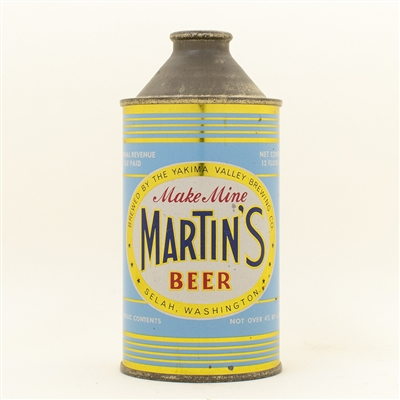 Martins Beer High Profile Cone Top Can