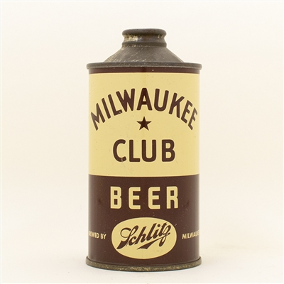 Milwaukee Club Beer Schlitz Low Profile Cone Top Can