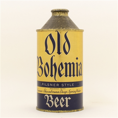 Old Bohemia Beer Cone Top Can STUNNING