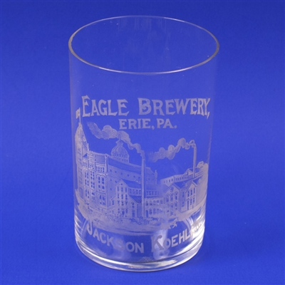 Eagle Brewery Jackson Koehler Factory Etched Glass
