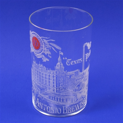 San Antonio Brewing Texas Pride Factory Etched Glass