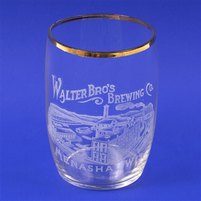 Walter Bros Brewing Factory Scene Etched Glass