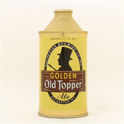 Golden old Topper Ale Cone Top Can LIKE NEW