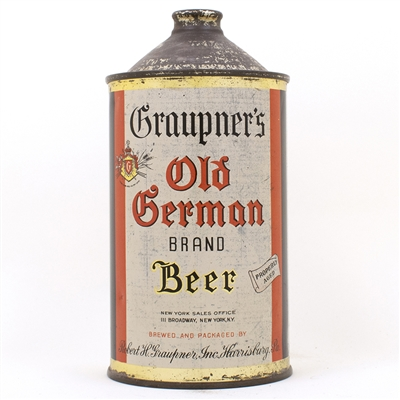 Graupners Old German Brand Beer Quart Can