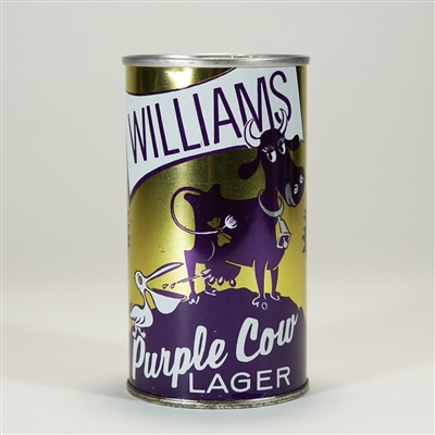 Williams Purple Cow Lager Zip Top Beer Can