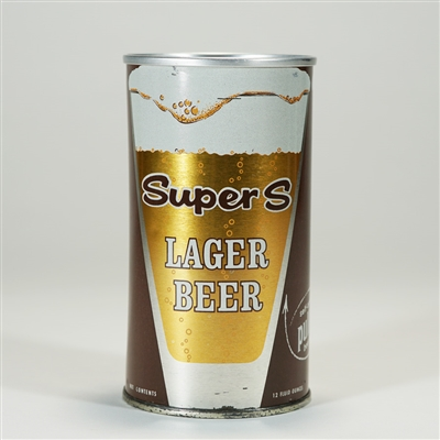 Super S Lager Beer Can BROWN