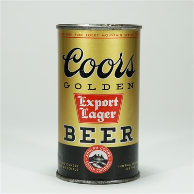 Coors Golden Export Lager Flat Top Beer Can
