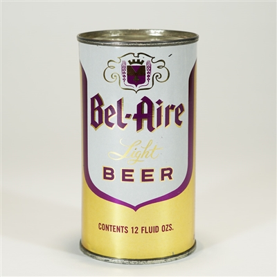 Bel-Aire Light Beer Flat Top Can