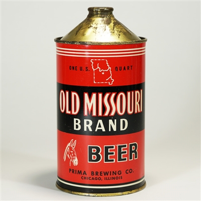 Old Missouri Brand BEER Quart Cone Top Can
