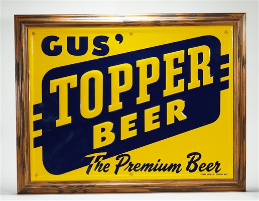 Gus Topper Beer Tin Sign