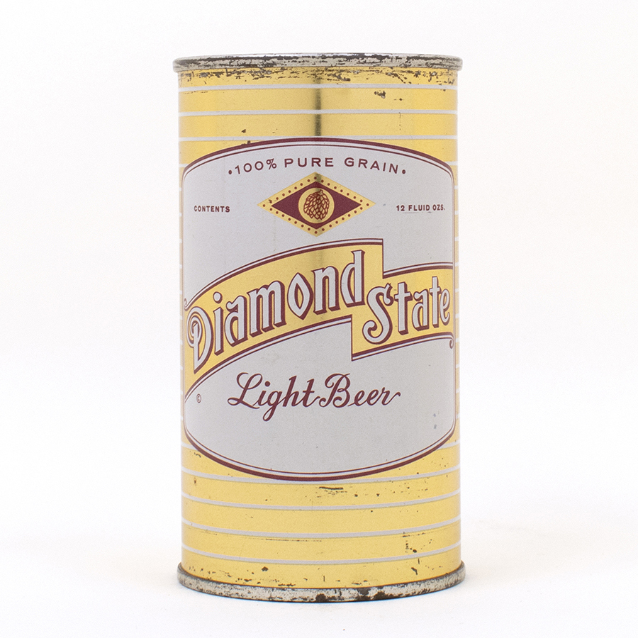Diamond State Light Beer Flat Top Can 53-33