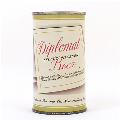 Diplomat Beer Flat Top Can