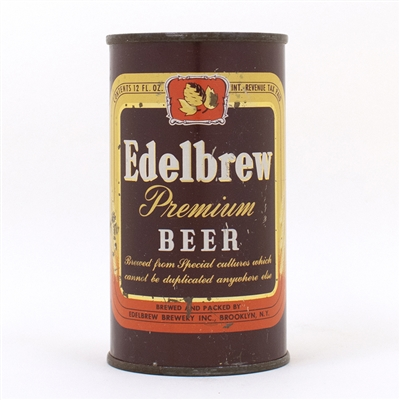Edelbrew Premium Beer Flat Top Can