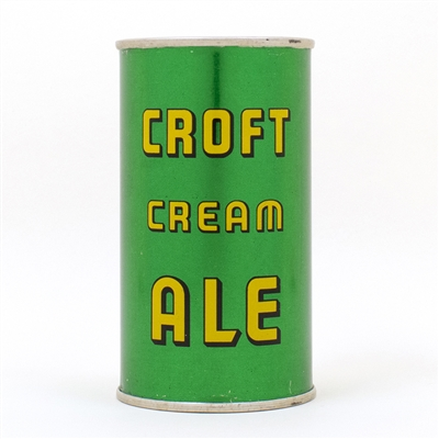 Croft Cream Ale INSTRUCTIONAL Flat Top Can