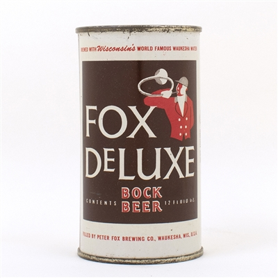 Fox Deluxe Bock Beer Flat Top Can