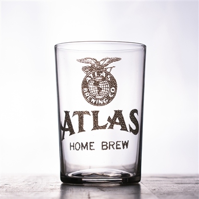 Atlas Brewing Home Brew Pre-Pro Etched Drinking Glass