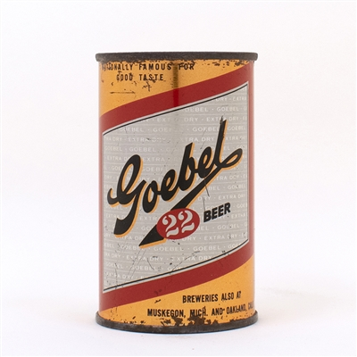 Goebel 22 Beer 11 oz Flat Top Can