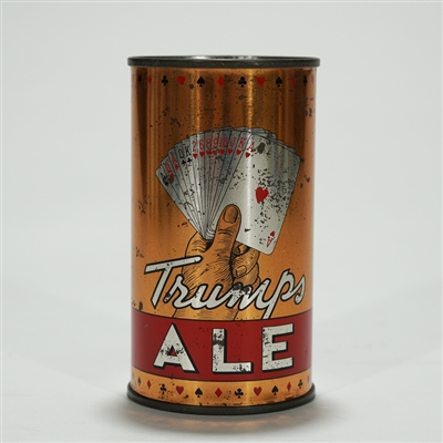Trumps Ale Instructional Flat Top Beer Can