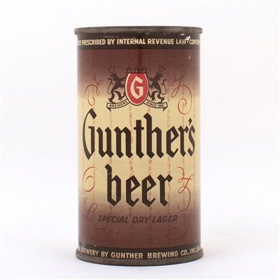 Gunther Special Dry Lager Beer Can
