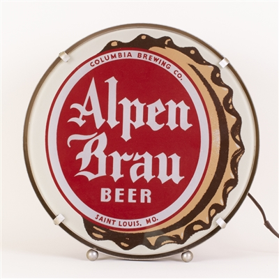 Alpen Brau Beer Lighted Back Bar Sign
