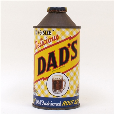 Dads Root Beer Soda Cone Top Can