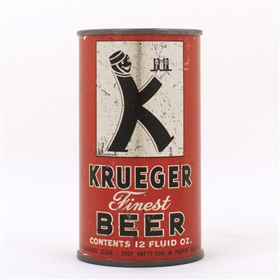 Krueger Finest Beer Flat Top Beer Can K-Man 90-11