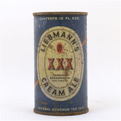 Liebmanns XXX Cream Ale Flat Top Can
