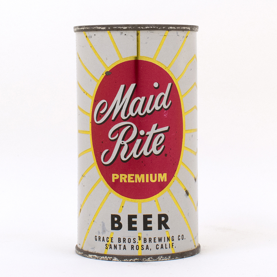 Maid Rite Beer Flat Top Can Grace