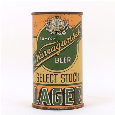 Narragansett Select Stock Lager Flat Top