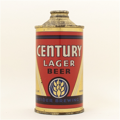 Century Lager Beer Low Profile Cone Top Can