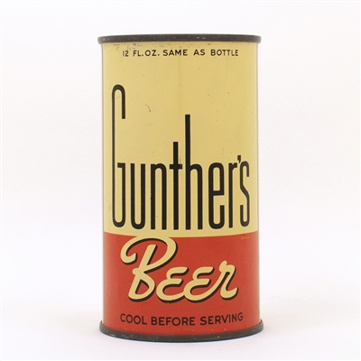 Gunthers Beer Flat Top Can LONG OPENER