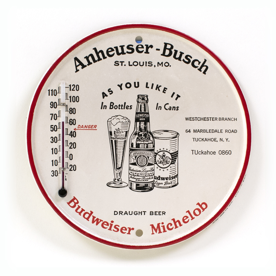 Anheuser-Busch Budweiser Michelob Can Thermometer
