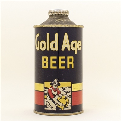 Gold Age Beer Low Profile Cone Top Can RARE