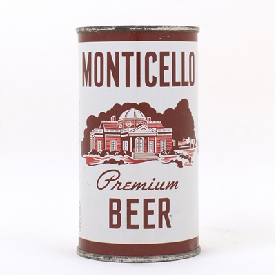 Monticello Premium Beer Flat Top Can