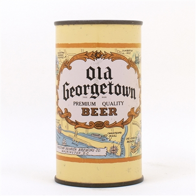Old Georgetown Beer LIGHT BROWN Flat Top