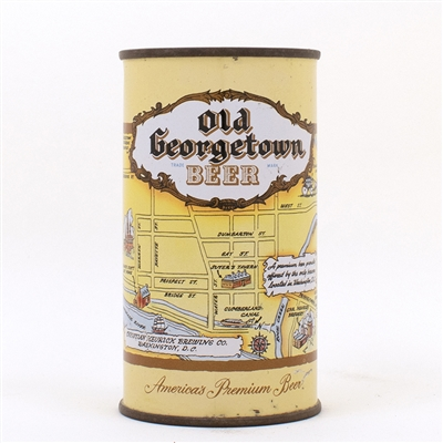 Old Georgetown Beer LARGE MAP Flat Top