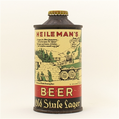 Heilemans Old Style Early FBIR Cone Top Beer Can