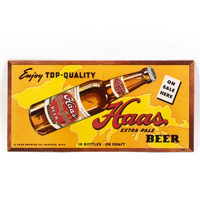 Haas Extra Pale Beer Bottle Sign