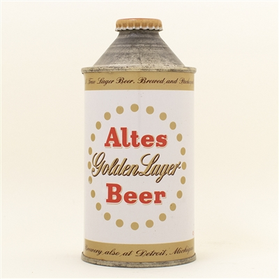 Altes Golden Lager Cone Top Beer Can