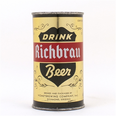 Richbrau DRINK Beer Gold METALLIC Flat Top