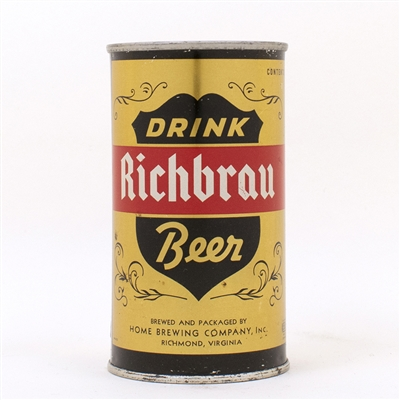 Ricbrau DRINK Beer Gold ENAMEL Flat Top