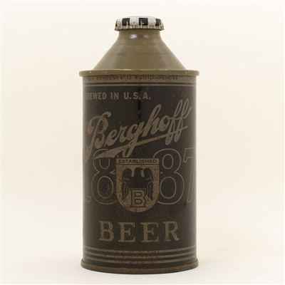 Berghoff Beer Olive Drab Cone Top Can