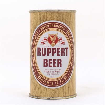 Ruppert Beer Woodgrain Eagle Flat Top Can 126-10
