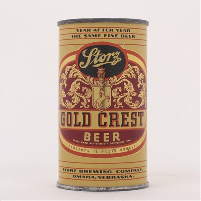 Storz Gold Crest Beer Can 137-16