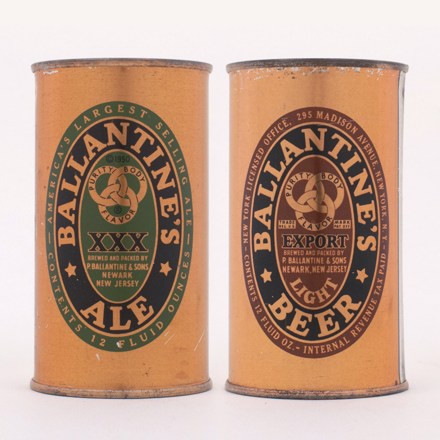 Ballantine's Ale/Beer Can Set