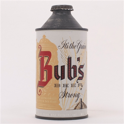 Bubs Grain STRONG Beer Cone Can 155-3