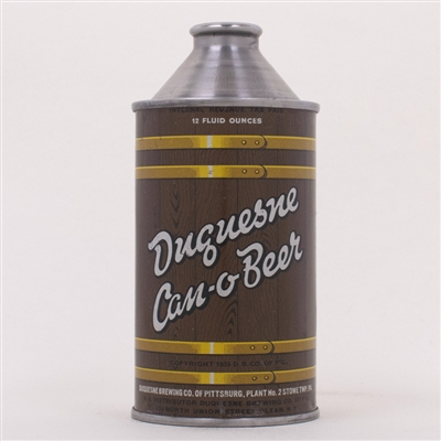 Duquesne Can-O-Beer Cone Can 159-27