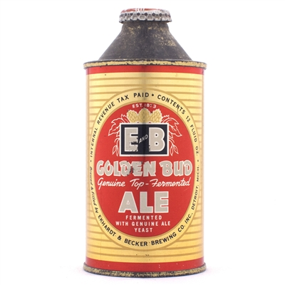 E&B Golden Bud Ale Cone Top Can 160-13