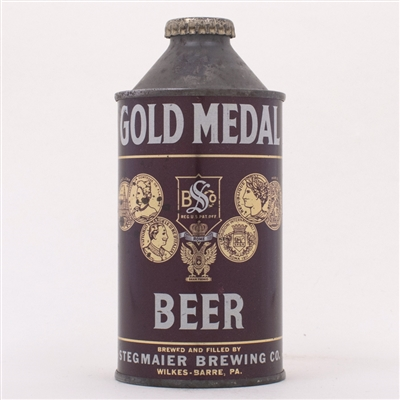 Gold Medal Beer Cone Top Can 165-29