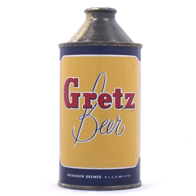 Gretz Beer Cone Top Can 167-31